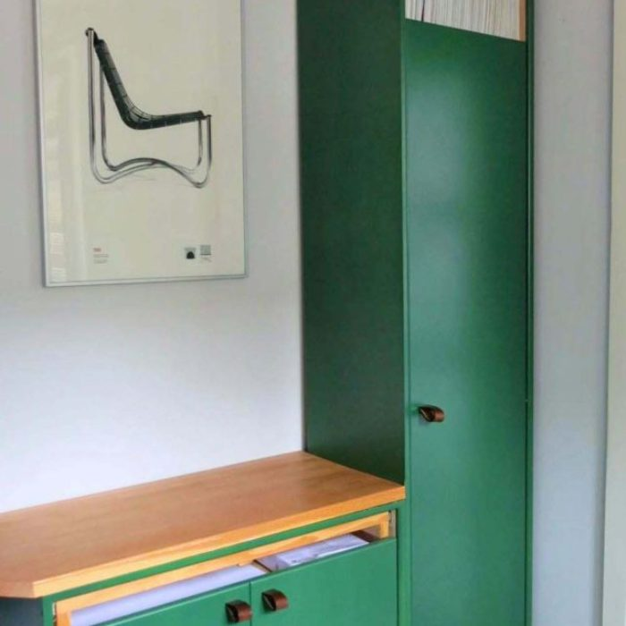 Office cabinetry with Douglas Fir desk top