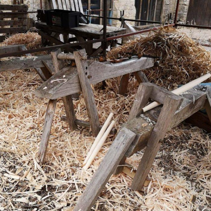 Chair bodging in Westonbirt Arboretum